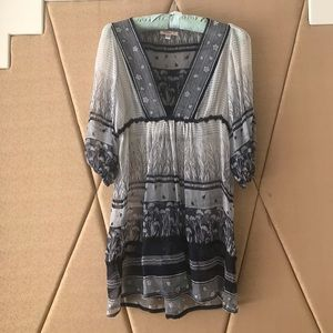 Free People Lux silk tunic top: size S